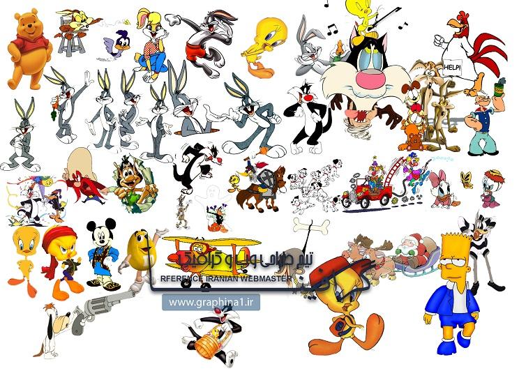 دانلود لایه باز شخصیت های کارتونی سری اول