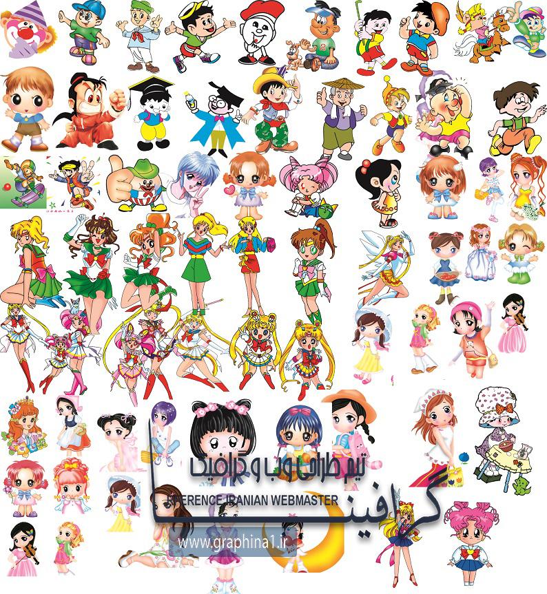 دانلود لایه باز شخصیت های کارتونی سری سوم